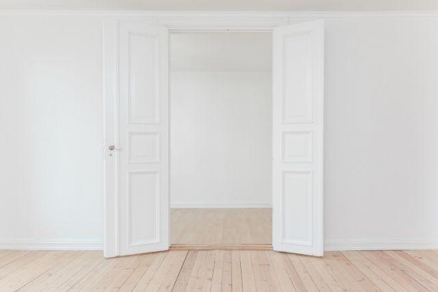 全開のドア